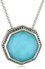 """Judith Jack """"Octagon Sterling Silver and Marcasite Octagon Pendant Necklace"""