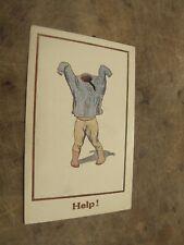 J Salmon Comic / seaside humour Postcard - Help! - child struggling