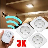 3Pcs LED Kabellose Fernbedienung Nacht Sicherheit Touch Lichter SMD Unterschrank