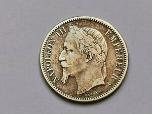 1 franc Napoléon III argent tête laurée 1866 A ! 4,98 g