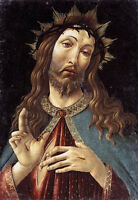 Stunning Oil painting Sandro Botticelli - Christ Crowned with Thorns canvas