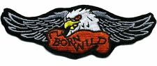 HARLEY WINGS - EAGLE/BORN WILD - IRON ON PATCH