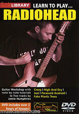 LICK LIBRARY Learn to Play RADIOHEAD Rock POP CREEP JUST Lesson Tutor Guitar DVD