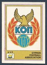 PANINI EURO 77 #168-CYPRUS TEAM BADGE