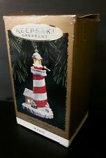 Candy Cane Lookout Hallmark Keepsake 1994 Magic Ornament Blinking Light -Tested