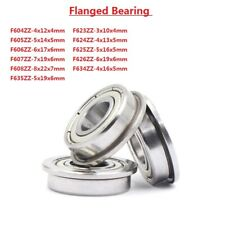 Miniature Deep Groove Ball Flanged Shielded Bearings F604ZZ-F635ZZ Bearing Steel