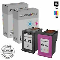 2PK HY BLACK COLOR 61XL for HP CH563WN CH564WN Ink Cartridge OfficeJet 2620 4630