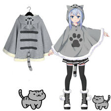 Neko Atsume Cute Cat Backyard Anime Kawaii Warm Cotton Cloak Sweater Coat New