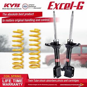 Rear KYB EXCEL-G Shock Absorbers STD King Springs for SUBARU Impreza GD9 GDA GDE