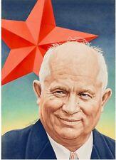 1957 Time Magazine COVER ART Nikita Khrushchev Cold War Baker USSR Soviet Union