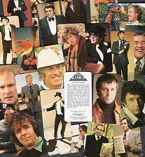 """GOLDEN WONDER CRISPS 1979 SET OF 24 """"TV ALL STARS"""" DR WHO EMU TRADE CARDS"""