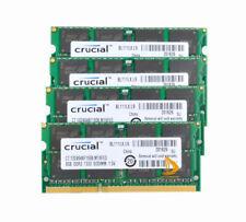 32GB Crucial 4X8GB 2Rx8 PC3-10600S DDR3-1333Mhz RAM Laptop Memory F iMac 27 2011