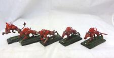 Warhammer Daemon Chaos Non Gw fleshhounds Khorne metal Oop army lot painted