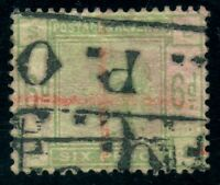 Great Britain Sc# 105 Used VF Red Pen Cross Cancel