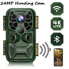 Campark 4K WLAN Bluetooth Wildkamera 24MP IR Nachtsicht Überwachungskamera IP66