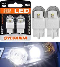Sylvania ZEVO LED Light 7440 White 6000K Two Bulbs Rear Turn Signal Replace OE