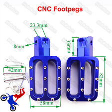 Blue Footpegs Foot Rest Pegs For Chinese XR50 CRF50 KLX110 Pit Dirt Motor Bike