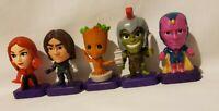 5 McDonald's 2020 Marvel Studios Heroes  Happy Meal Toys Hulk, Groot, Vision etc