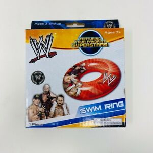 WWE Swim Ring 2 Pack Orange Inflatable Floating Device Kids Wrestling John Cena