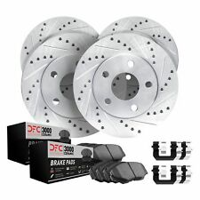 BLACK HART DRILLED SLOTTED BRAKE ROTORS AND CERAMIC PAD BHCR.62105.02 REAR KIT