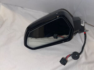 2016-2020 Chevrolet Camaro LH Drivers Side Mirror W/Blind W/ Auto Dim OEM Black