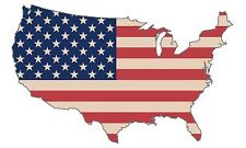 American Flag Country Usa Patriotic Stars and Stripes Auto Bumper Sticker Decal