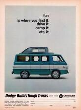 Print. 1965 Dodge A100 Camp Wagon Advertisement