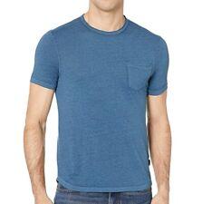 John Varvatos Star USA Men's Short Sleeve Ames Burnout Pocket Crew T-Shirt Sky