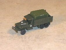 N Scale Military OD Green WW2 CCKW  2 1/2 ton  truck, open bed with river rafts