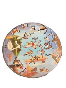 "Springbok Circular Puzzle ""Ducks Geese and Swans"" Maynard Reece Complete 1966"