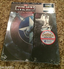 CAPTAIN AMERICA: CIVIL WAR Steelbook / 3D, Blu Ray, Digital Best Buy LOOSE DISC