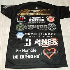 MMA Cage Fighter Fitness Shirt Tom Evan's Mens Size XXXL Jujitsu Muay Tai Black