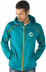 G-III Sports Miami Dolphins Men's Resistance Full Zip Hoody Jacket M-5XL