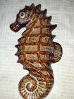 "Ceramic Seahorse wall hanging. Used. 9"""