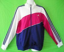 -RARE~Adidas TRICOT POLY Track Sweat Jacket firebird superstar Top shirt~Mens XL