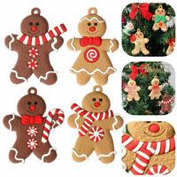 12/6X Weihnachten PVC Lebkuchenmännchen Ein Lebkuchen Anhänger Gingerbread Dekor