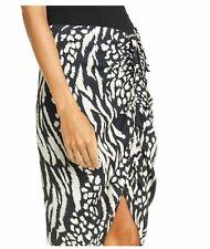 4 VERONICA BEARD Black IKAT ARI long ruched womens Skirt NWT $395 NEW