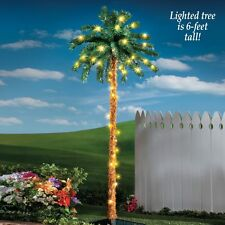 Lighted 6 Ft. Tall Jimmy Buffet Palm Tree Porch Patio Garden Decoration