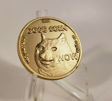DOGECOIN Commemorative & Collectible numbered 3D coin ! 2014 , RARE!   MANY WOWz