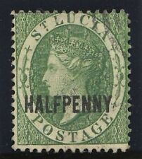 St Lucia 1881 QV ½d green very fine used. SG 23. Sc 15.