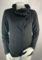 NEW Eileen Fisher Small Women's Jacket High Neck Black Button Down Cotton Blend