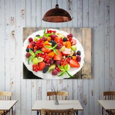 Fruits Salad Canvas Poster Art Picture Prints Kitchen Wall Hanging Decor
