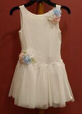 Biscotti Girls Dress,Sleeveless,Ivory sz 6 NWT
