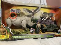 "Jumanji 2019 ULTIMATE GIFT SET 3 3/4"" Collection Rhino Rock Wolf Jeep Vulture"