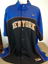 NEW W/TAGS VINTAGE 1990s NEW YORK KNICKS AUTHENTIC Nike WARMUP JACKET 2XL