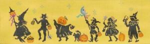 Needlepoint HandPainted Dede Halloween Parade 17x5