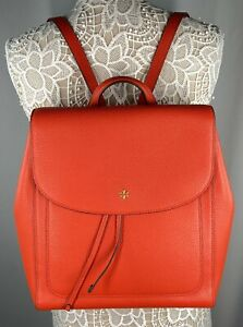 Tory Burch Blake Flap Backpack Color Poppy Red One Size (os)