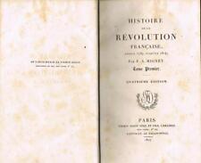 MIGNET Histoire de la révolution française 2 VOLS 1827 Firmin-Didot 1 PLANCHE