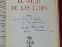 ALEJO CARPENTIER / EL SIGLO DE LAS LUCES / TRES RARE EO 1962 Mexico Inscribed