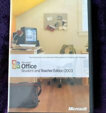 Microsoft Office Student and Teacher Edition 2003 Software PC Windows